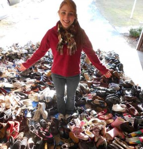 Michelle with collected shoes